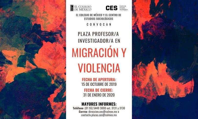 Plaza de profesor en migración y violencia