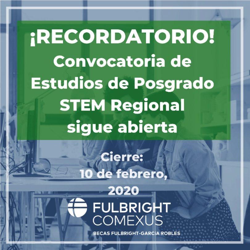 Convocatoria STEM-Regional- Comexus