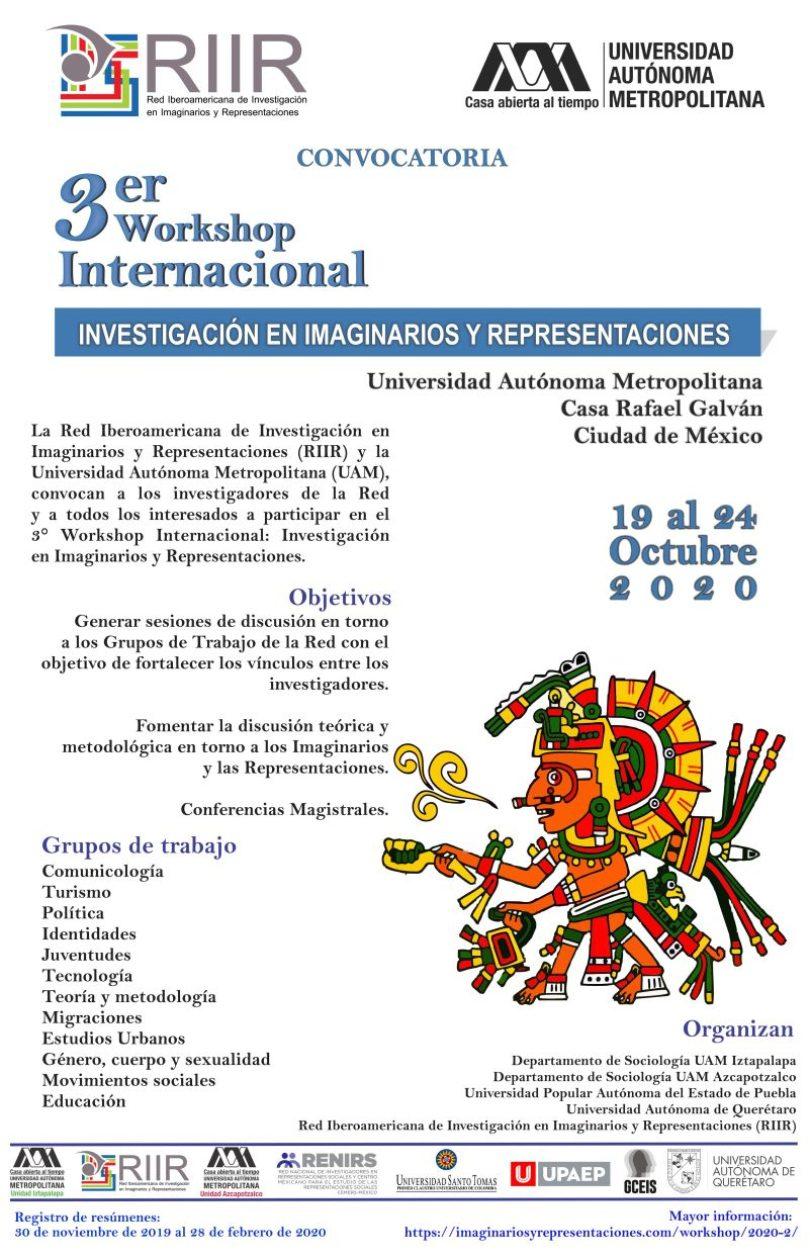 III Workshop: Investigación en Imaginarios y Representaciones