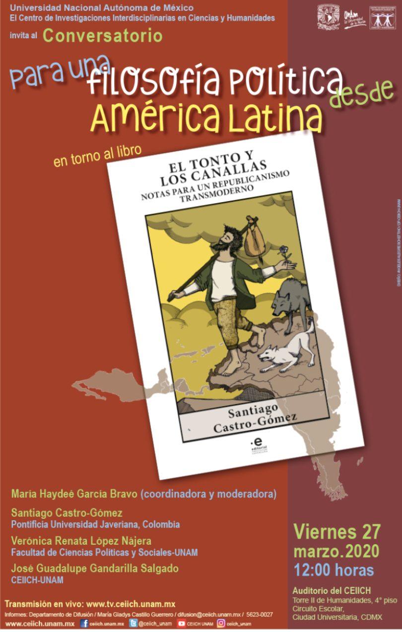Conversatorio para una filosofía política desde América Latina