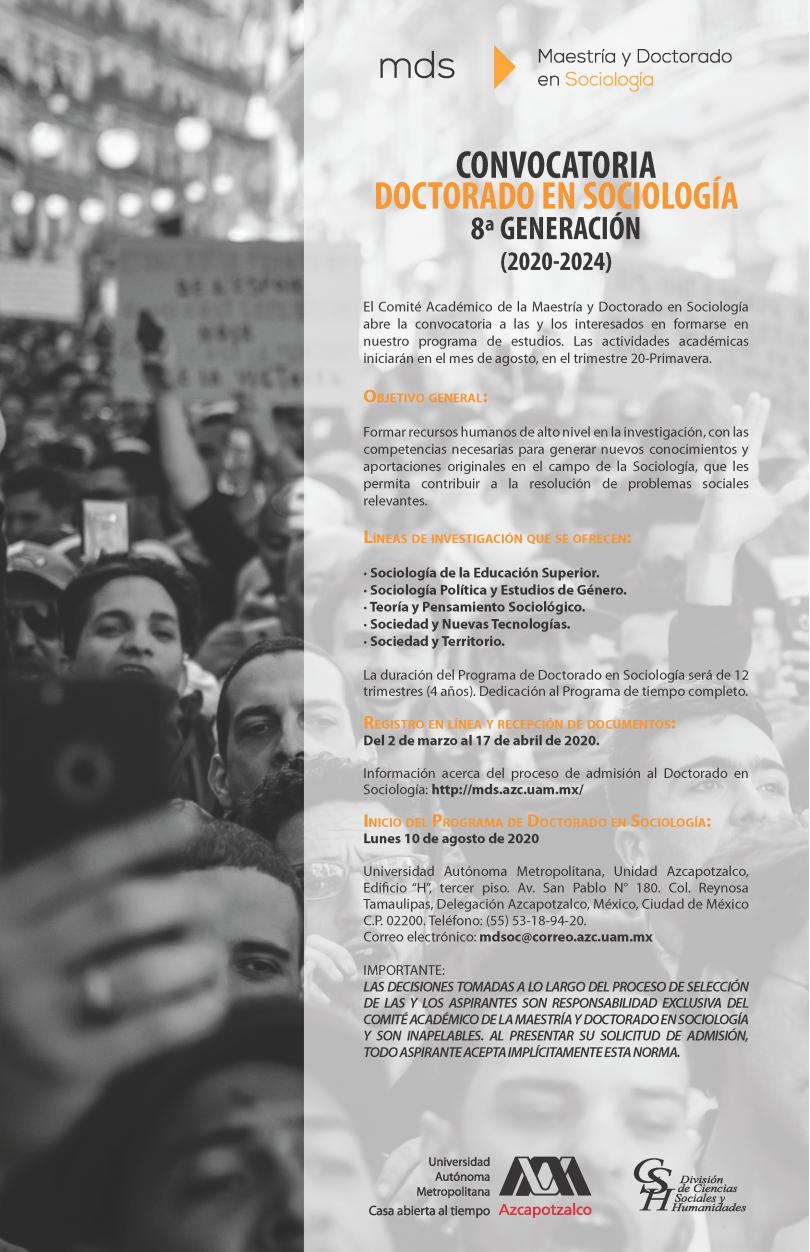 Doctorado en Sociología. UAM-Azcapotzalco