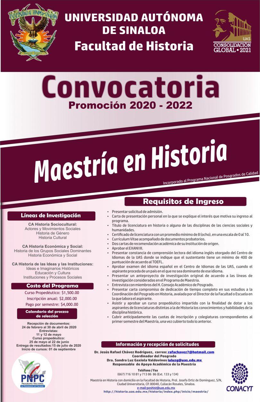 Maestría en Historia-UAS