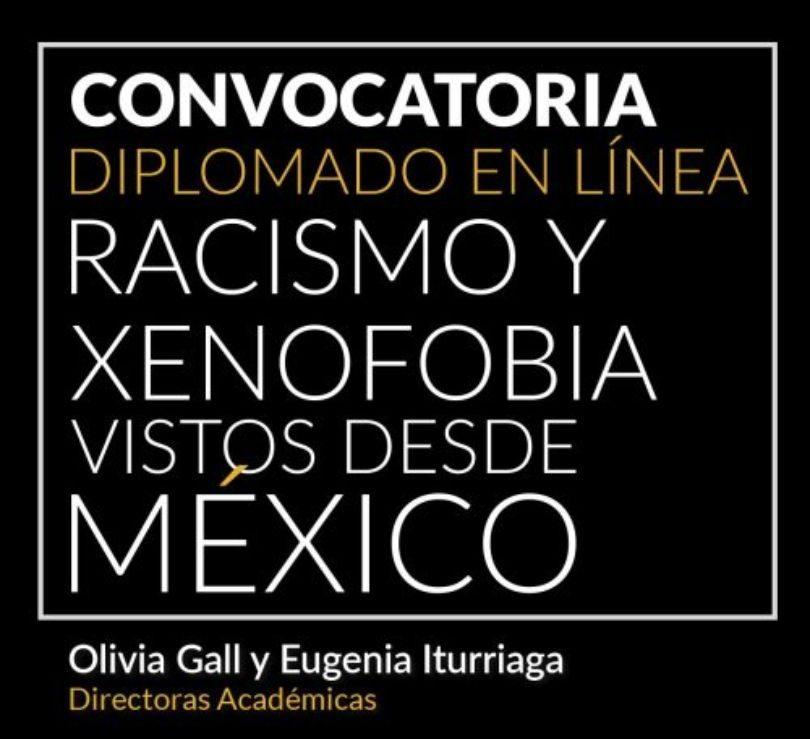 Diplomado Racismo y Xenofobia vistos desde México