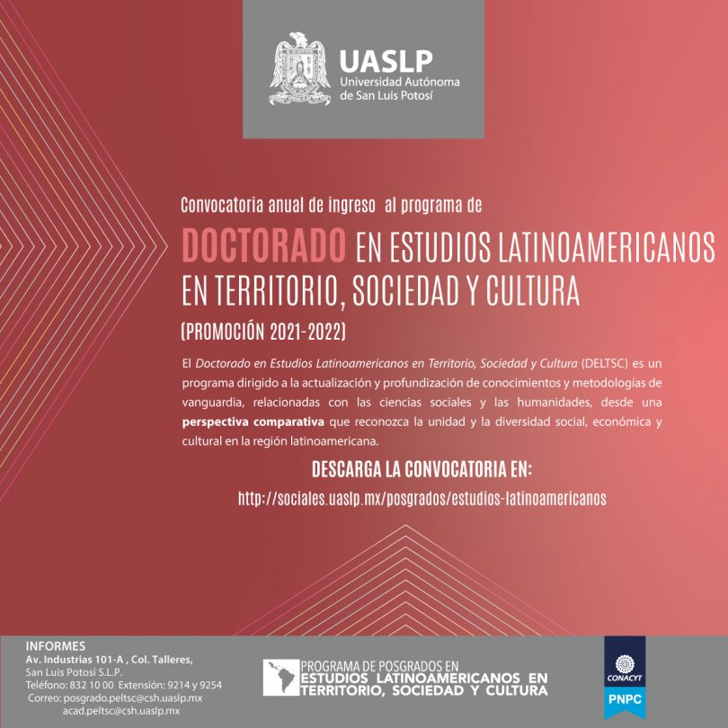 Doctorado en Estudios Latinoamericanos en Territorio, Sociedad y Cultura