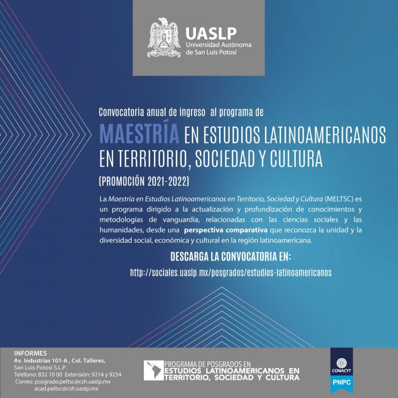 Maestría en Estudios Latinoamericanos en Territorio, Sociedad y Cultura