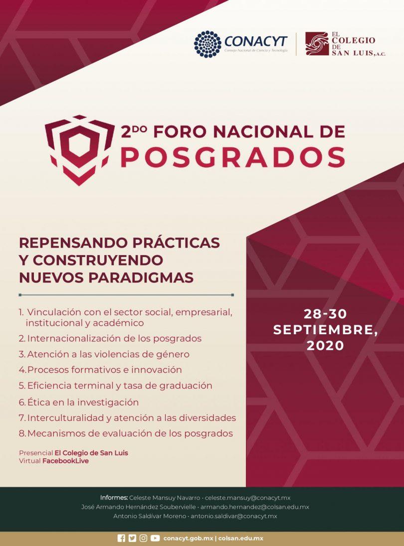 2do. Foro Nacional de Posgrados