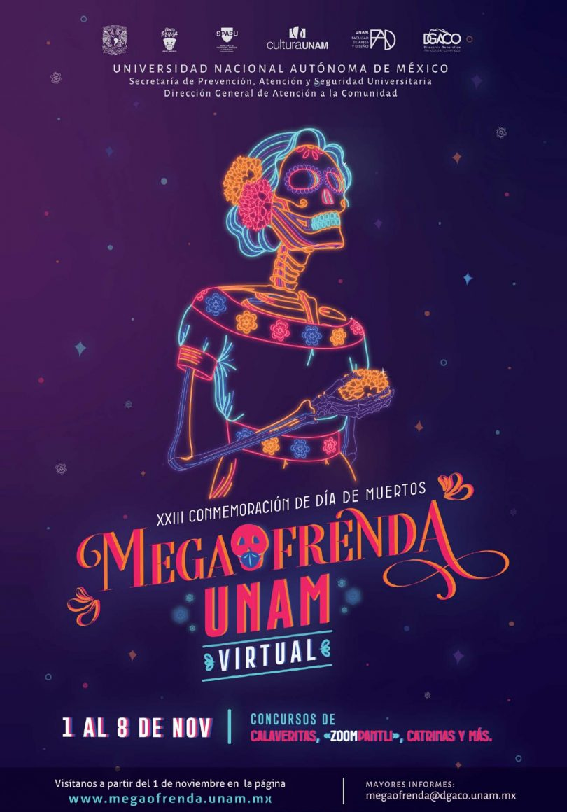 Megaofrenda UNAM virtual