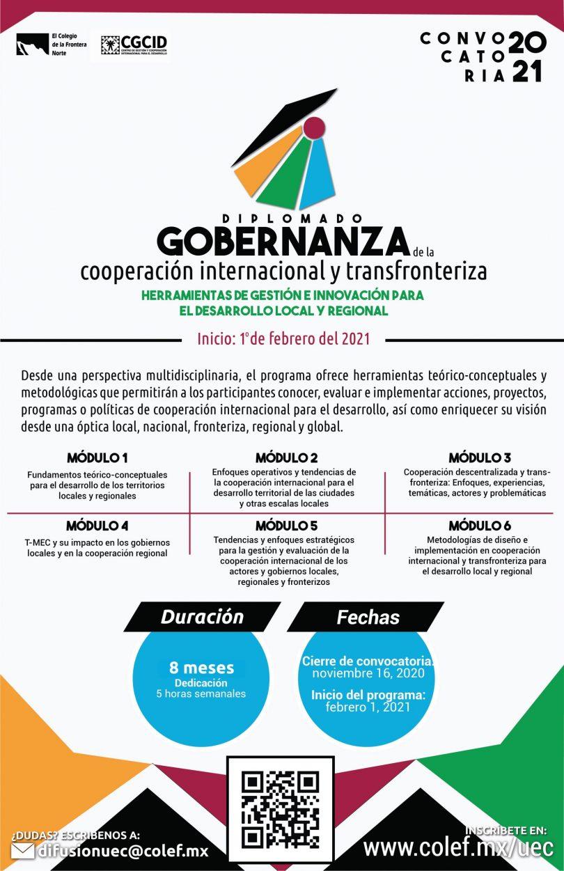 Diplomado Gobernanza de la cooperación internacional y transfronteriza