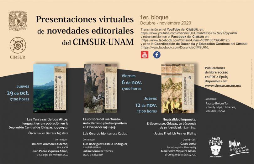 Presentaciones de novedades editoriales del CIMSUR-UNAM