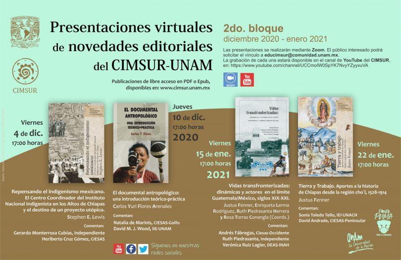 Presentaciones de novedades editoriales del CIMSUR-UNAM 2do. Bloque