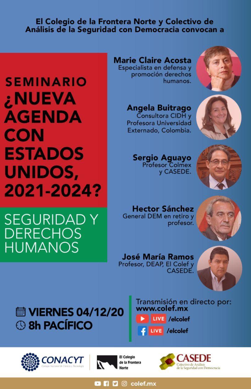 ¿Nueva agenda con Estados Unidos, 2021-2024? Seguridad y derechos humanos