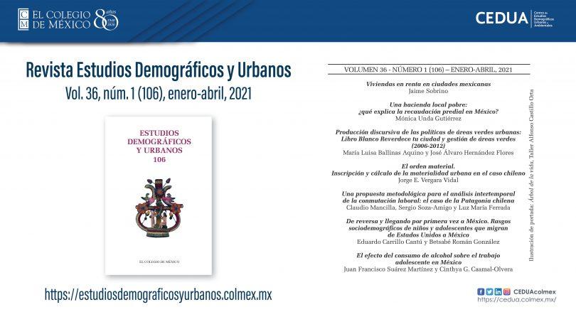 Estudios Demográficos y Urbanos, vol. 36, núm. 1