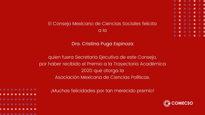 Premio a la Trayectoria Académica AMECIP 2020