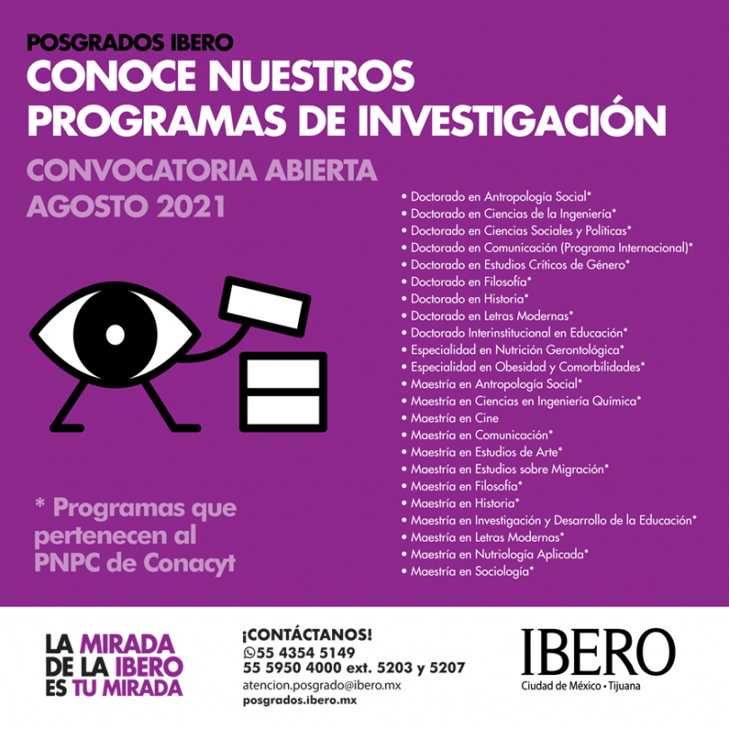 Convocatoria abierta pogrados IBERO 2021
