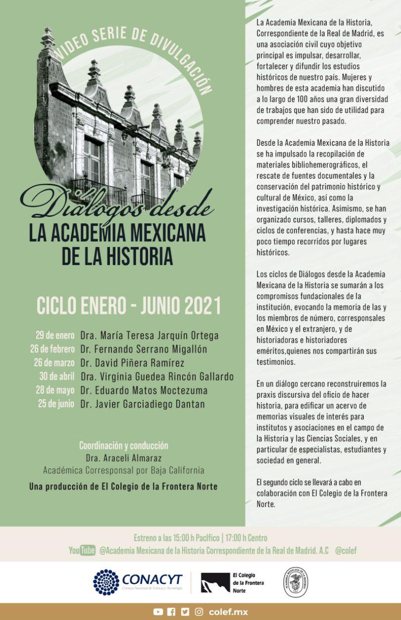 Diálogos desde la Academia Mexicana de la Historia | Ciclo Enero-junio 2021