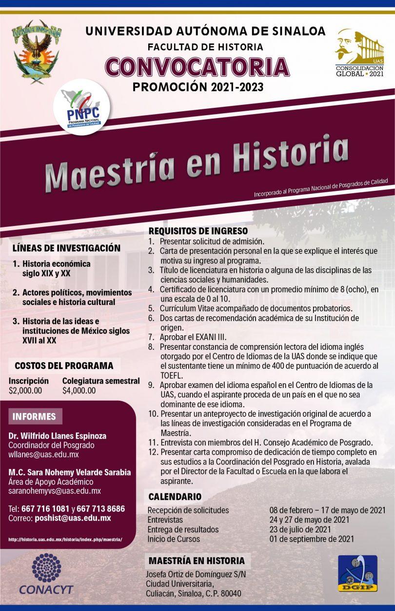 Maestría en Historia | UAS