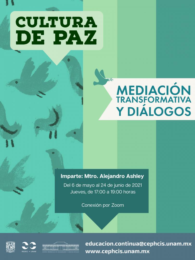 Cultura de la paz, mediación transformativa y diálogos