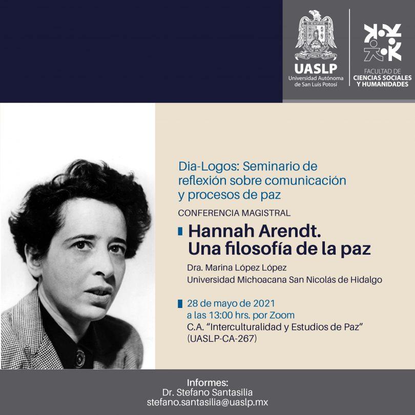 Hannah Arendt. Una filosofía de la paz.