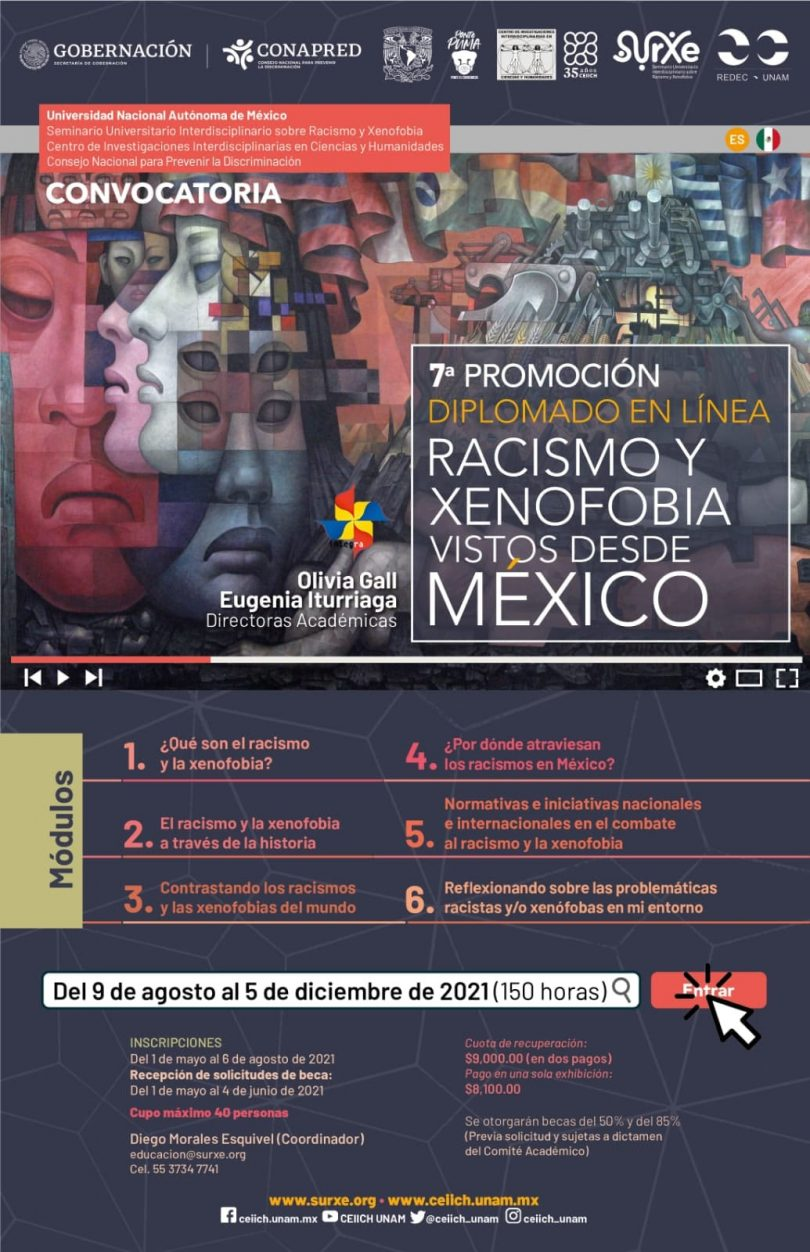 7a promoción. Diplomado Racismo y Xenofobia vistos desde México
