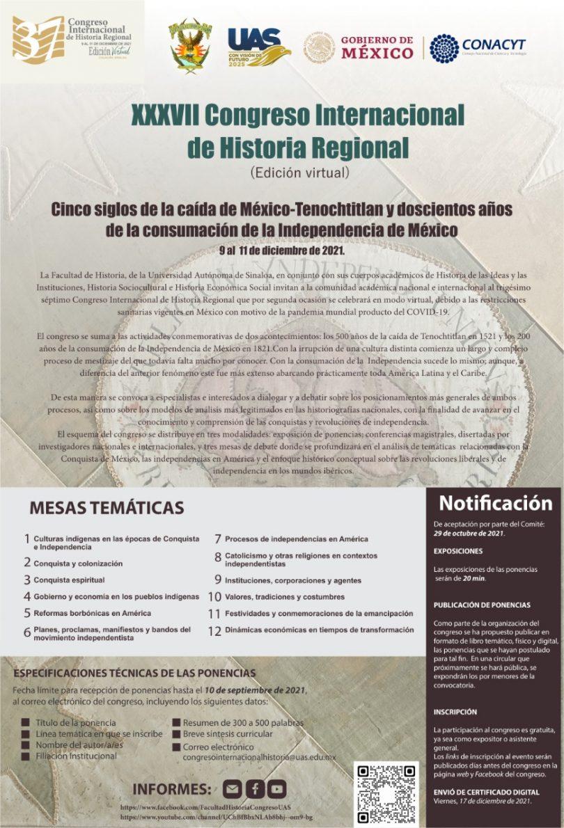 XXXVII Congreso Internacional de Historia Regional