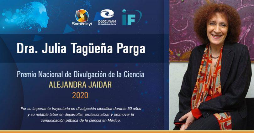 """Premio Nacional de Divulgación de la Ciencia """"Alejandra Jaidar"""" 2020"""