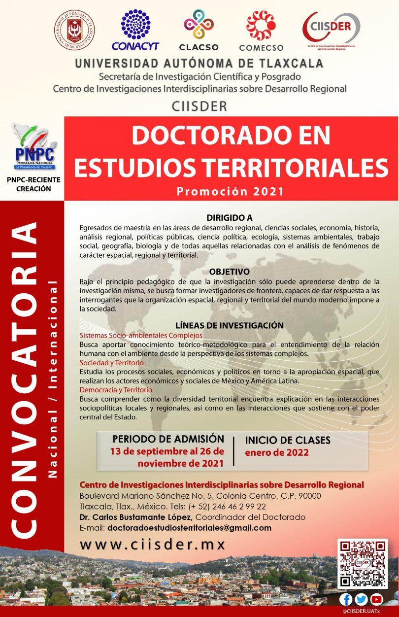 Doctorado en Estudios Territoriales