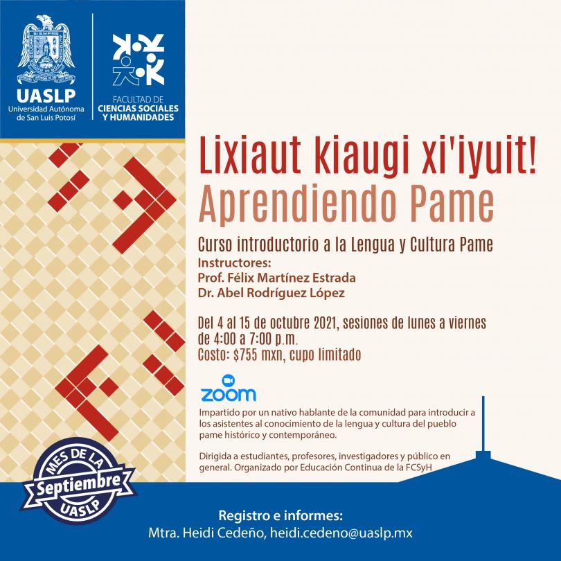 Curso introductorio a la Lengua y cultura Pame