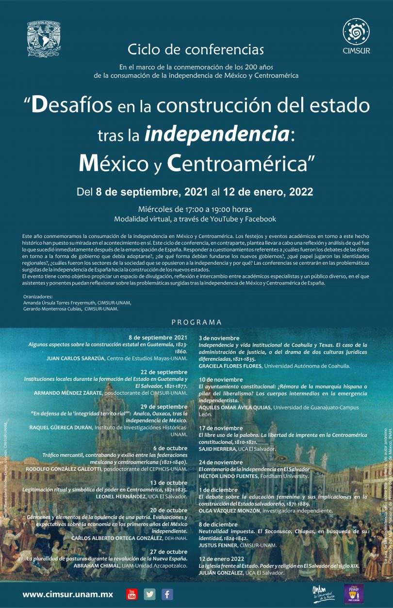 Desafíos en la construcción del estado tras la independencia México y Centroamérica