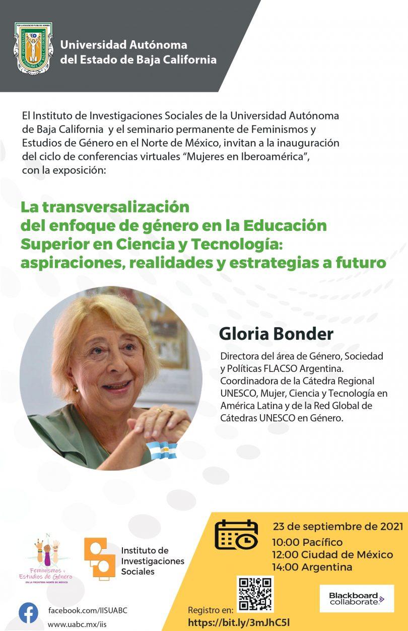 """Primer ciclo de conferencias """"Mujeres en Iberoamérica"""""""