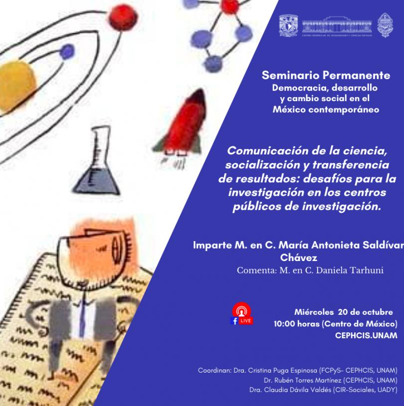 Comunicación de la Ciencia, socialización y transferencia de resultados