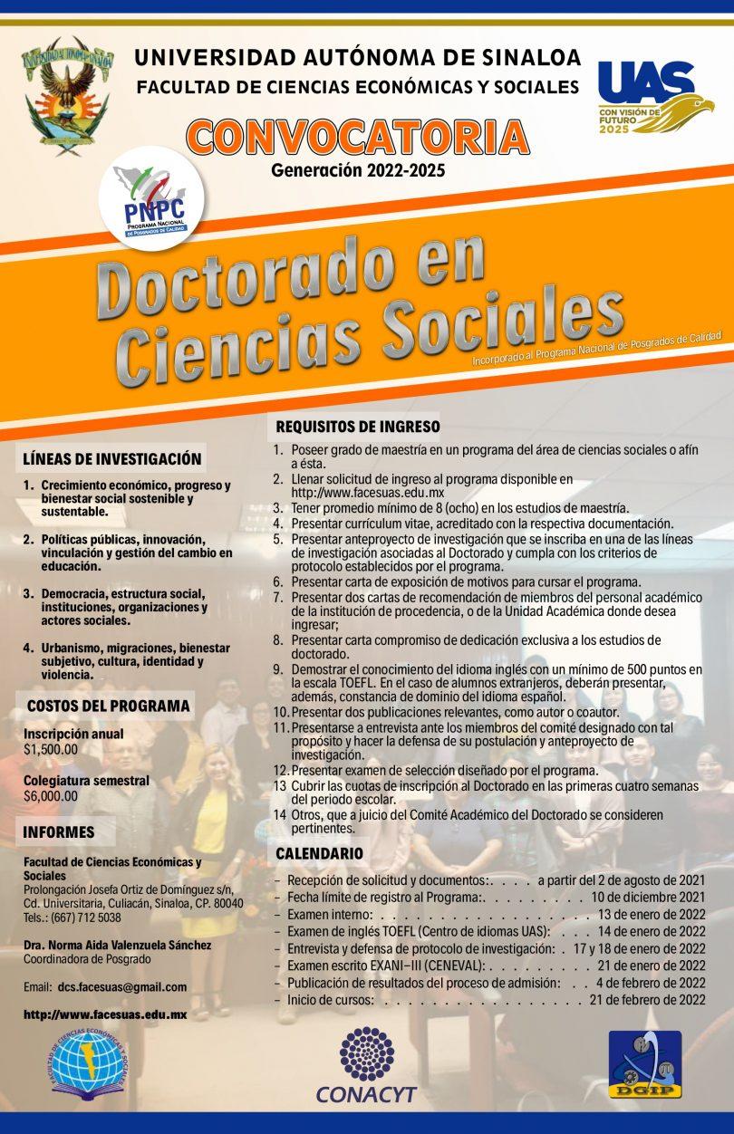 Doctorado en Ciencias Sociales (2022-2025)